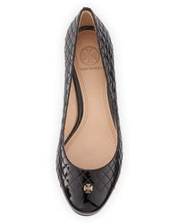 Tory Burch Kent Quilted Patent Pump - Lyst