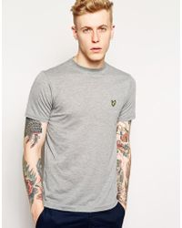 Lyle & Scott T-Shirt With Eagle Logo gray - Lyst