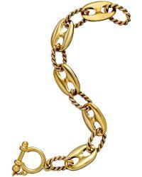Lauren by Ralph Lauren Gold-tone Metal Link Rope Bracelet - Lyst