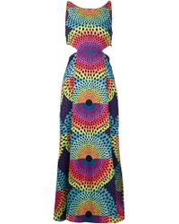 Mara Hoffman Geometric-Print Maxi Dress - Lyst