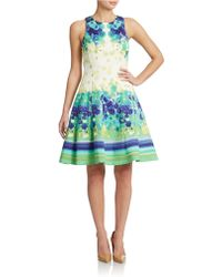 Maggy London - Mixed-Print Fit-And-Flare Dress - Lyst
