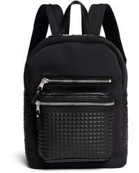 Ash - 'neema' Embossed Leather Neoprene Small Backpack - Lyst