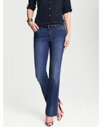 Banana Republic Denim Trouser - Lyst