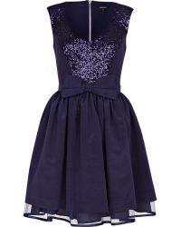 River Island Navy Sequin Prom Dress - Lyst