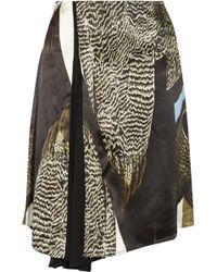 Reed Krakoff Printed Satin Skirt - Lyst