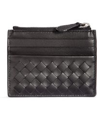 Bottega Veneta Intrecciato Leather Card Case - Lyst