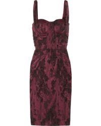 Zac Posen Stretchjacquard Dress - Lyst