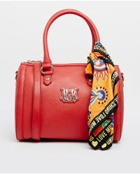 Love Moschino Barrell Bag with Scarf - Lyst