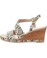 Cole Haan Ravenna Leather Wedge Sandal - Lyst