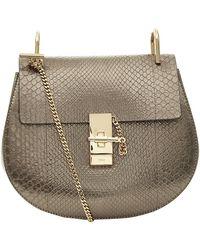 Chloé Small Python Drew Shoulder Bag - Lyst