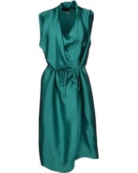Lanvin Green Knee-length Dress - Lyst