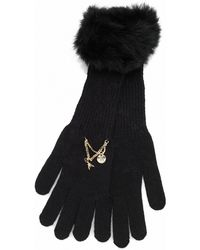 Patrizia Pepe Woollen Gloves with Rabbit Fur Insert - Lyst