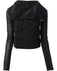 DRKSHDW by Rick Owens - Contrast Sleeve Biker Jacket - Lyst
