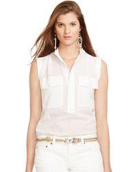 Polo Ralph Lauren Crinkled Cotton Gauze Shirt - Lyst