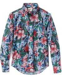 Naked & Famous Big Tropical Print Shirt - Lyst