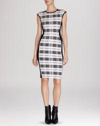 Karen Millen Dress - Check Bandage Knit Collection - Lyst