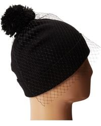 Betsey Johnson Veil Beanie Hat - Lyst