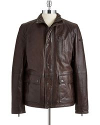 Strellson Dellaway Leather Jacket - Lyst