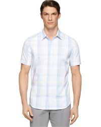 Calvin Klein Medium Plaid Multi-Check Shirt multicolor - Lyst