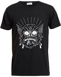 Saint Laurent Black T-shirt Nero - Lyst