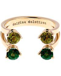 Delfina Delettrez Peridot Topaz  Yellowgold Ring - Lyst