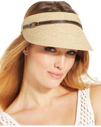 Nine West Packable Visor brown - Lyst - nine-west-white-packable-visor-product-1-27789406-0-128638400-normal