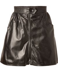 Kenzo Leather Mini Skirt - Lyst