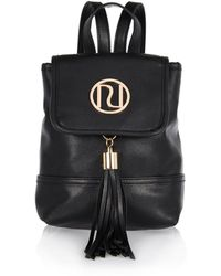 River Island Black Leather-look Mini Backpack - Lyst