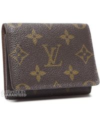Louis Vuitton Preowned Monogram Canvas Credit Card Case - Lyst