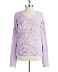 Bb Dakota Ogee Pullover Knit - Lyst