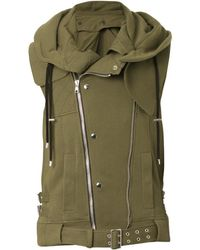 Balmain Hooded Cotton Gilet - Lyst