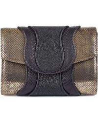 Khirma Eliazov Python Shimmer Leather Jolie Clutch - Lyst