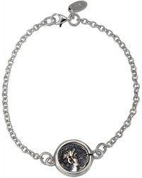 "1884 Jewelry | 1884 - ""legacy\"" Sterling Silver Station Bracelet W/1 Ottaviano Coin 