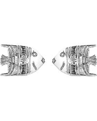 Theo Fennell - 18ct White-gold Angel Fish Stud Earrings - Lyst