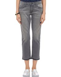 Current/Elliott Cropped Gutter Jeans - Lyst