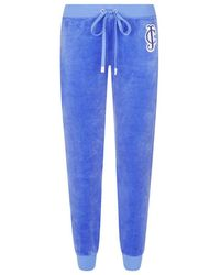 Juicy Couture Jewel Logo Tapered Velour Sweatpants - Lyst