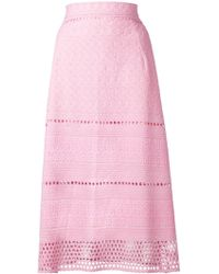House of Holland Embroidered A-Line Skirt - Lyst
