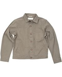 Universal Works Gray Trucker Jacket - Lyst