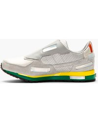 Raf Simons Silver Canvas and Leather Adidas Edition Sneakers - Lyst