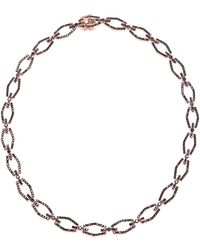 Fallon Brinkley Pave Bar Link Necklace - Lyst