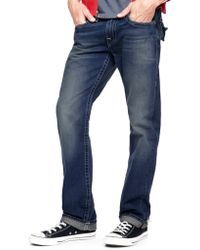 True Religion Hand Picked Straight Back Flap Pocket Selvage Mens Jean - Lyst