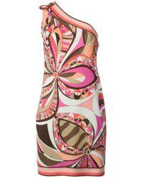Emilio Pucci Asymmetric Printed Dress - Lyst