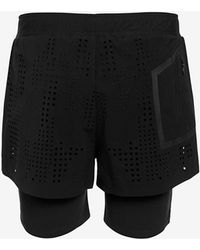 Theory Double Layer Running Shorts black - Lyst