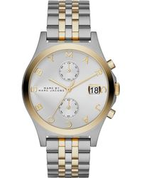 Marc By Marc Jacobs Women'S Slim Chrono Two-Tone Stainless Steel Bracelet Watch 38Mm Mbm3381 - Lyst
