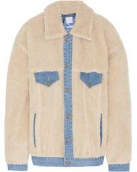 Steve J & Yoni P - Denim-trimmed Faux Shearling Jacket - Lyst