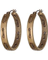 Sam Edelman Waterfall Chain Stitch Hoop Earrings - Lyst