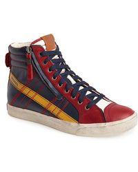 Diesel 'D-Velows D-String' Zip High Top Sneaker - Lyst