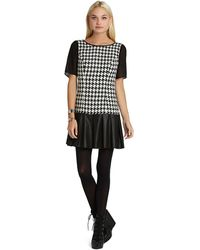 BCBGeneration Mini Dress with Peplum Ruffle - Lyst