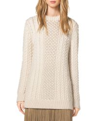 Michael Kors Mixed-Knit Wool Sweater - Lyst