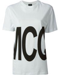 McQ by Alexander McQueen Logo-Print Cotton T-Shirt - Lyst